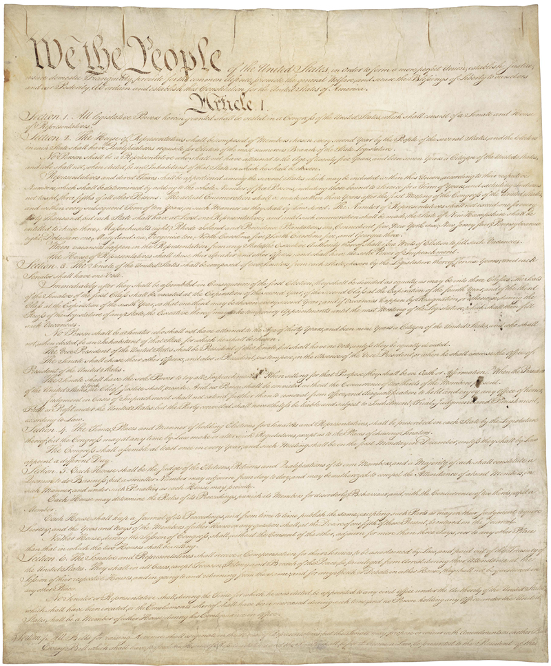 United States Constitution - Page 1